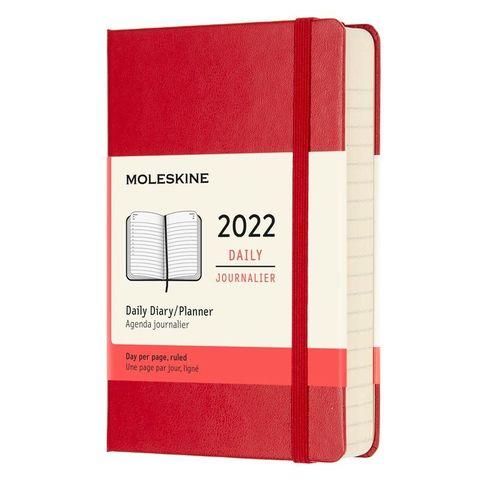Ежедневник Moleskine (DHF212DC2) Classic Pocket 90x140мм 400стр. красный