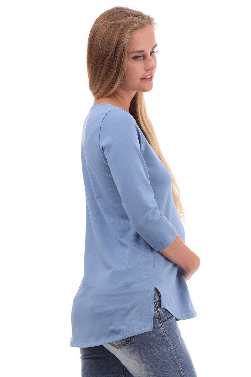Джемпер для беременных 09955 голубой