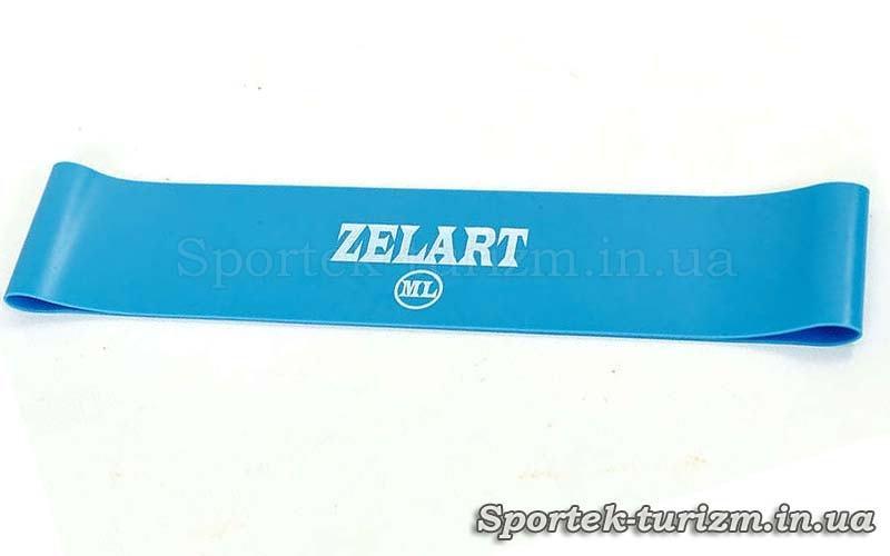 Резинки для фитнеса ZELART BANDS голубая (жесткость ML, 500x50x0.9 мм)