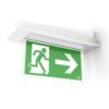 Внешний вид крепления к стене флагом для светодиодного светильника аварийного освещения Aestetica LED