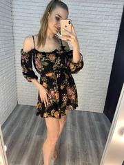 летнее черное платье короткое nadya