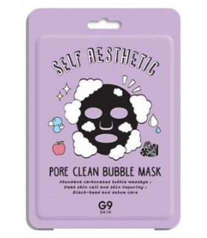 Маска для лица тканевая  G9skin Self Aesthetic Poreclean Bubble mask 23мл