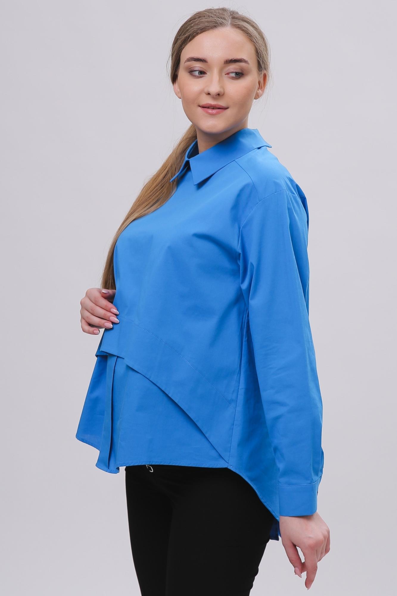 Рубашка для беременных 08922 темно-бирюзовый