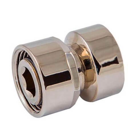 Резьбовое соединение для стальных труб матовое золото GW M22x1,5 x GW 1/2