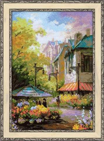Набор для вышивания крестом «Цветочная улица» (1306)