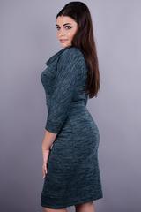 Єва. Жіноча офісна сукня великих розмірів. Смарагд.