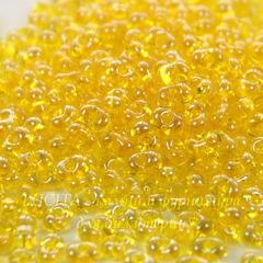 86010 Бисер Preciosa Фарфаль (Farfalle) 4х2 мм прозрачный блестящий желтый