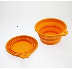 Миска силиконовая складная средняя 700 мл оранжевая, SuperDesign
