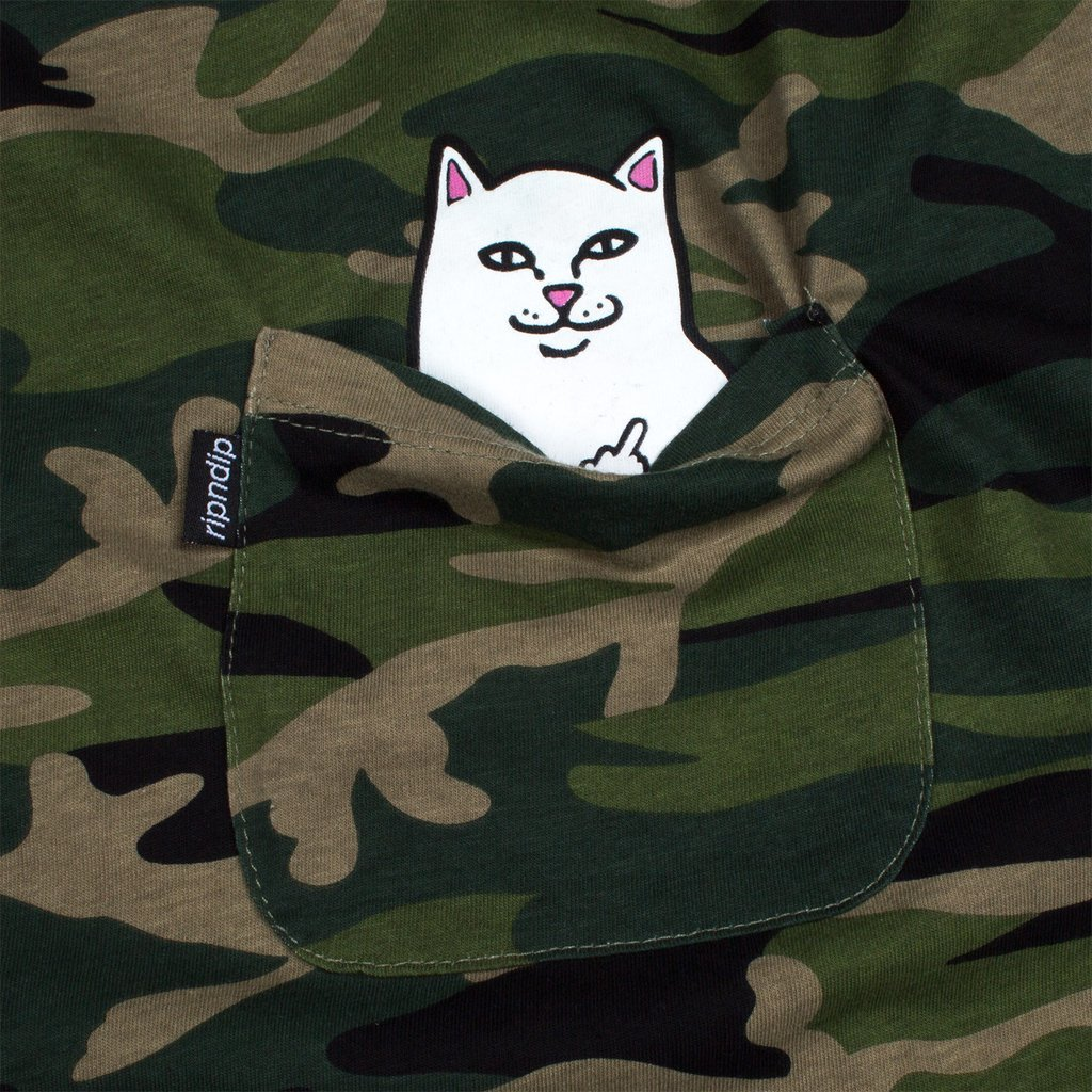 Футболка RIPNDIP Lord Nermal Pocket Tee (Green Camo)