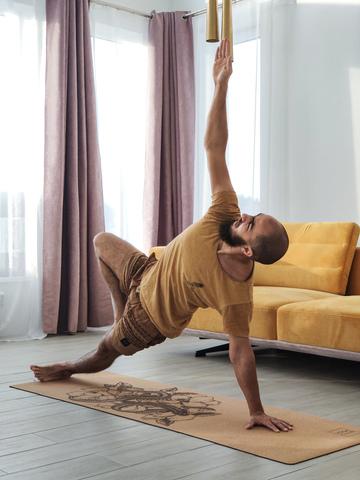 Пробковый коврик для йоги Snake 183*61*0,3 см