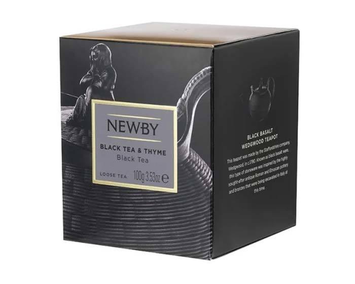 Чай черный листовой Newby Heritage Black tea & Thyme, 100 г