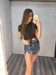 джинсовая юбка с рваными краями купить