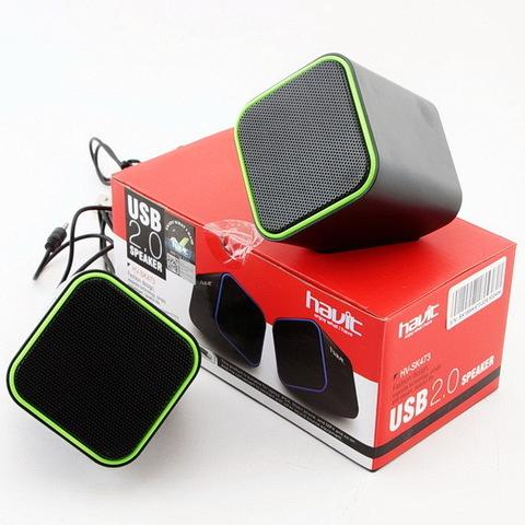 Колонки компьютерные HAVIT HV-SK473 USB black/green