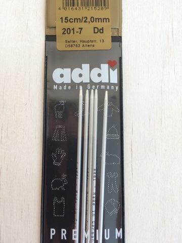 Спицы чулочные алюминий Addi 15 см