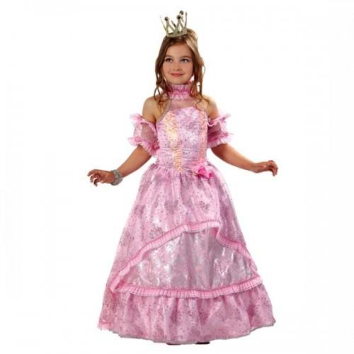 Детский карнавальный костюм Золушка-Принцесса розовая