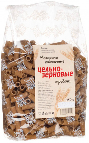Умная мама макароны цельнозерновые пшеничные Трубочки 350 г