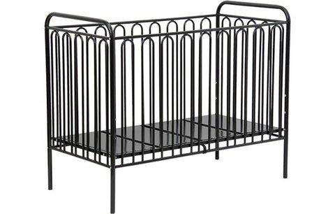 Кроватка детская Polini kids Vintage 150 металлическая, черный
