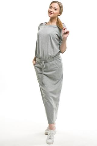 Платье для беременных 09541 серый