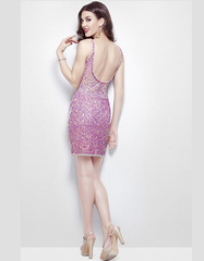 Roxana 1251 короткое платье расшитое пайетками и бисером
