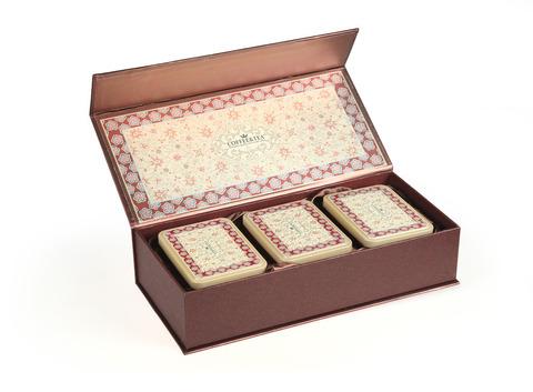 Подарочная коробка на 3 банки