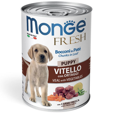 Monge Dog Fresh Chunks in Loaf Veal with Vegetables Puppy