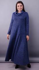 Селфі. Сукня максі для жінок плюс сайз. Синій.