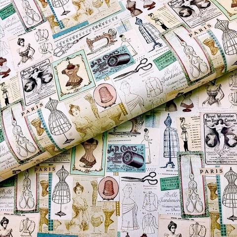 Бумага подарочная декоративная Ателье