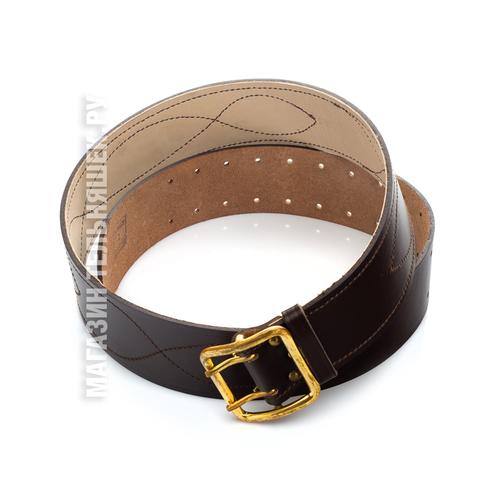 Купить коричневый офицерский ремень - Магазин тельняшек.ру 8-800-700-93-18