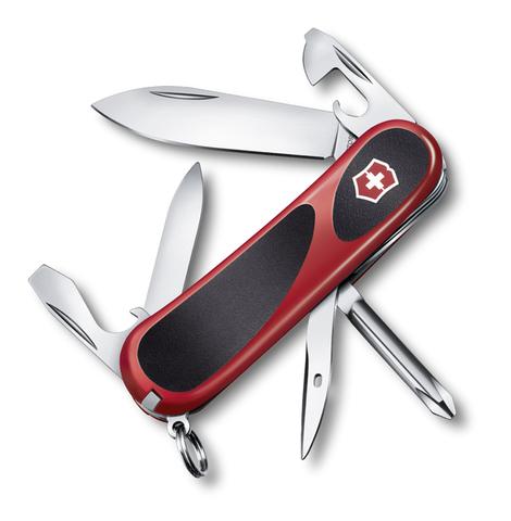 Нож Victorinox EvoGrip 11, 85 мм, 13 функций, красный с чёрным123