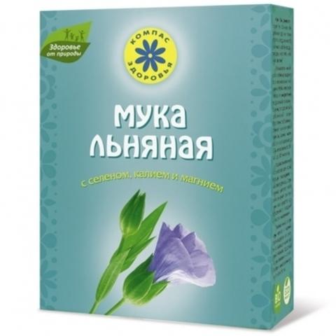 Мука Льняная с селеном 300г Компас Здоровья