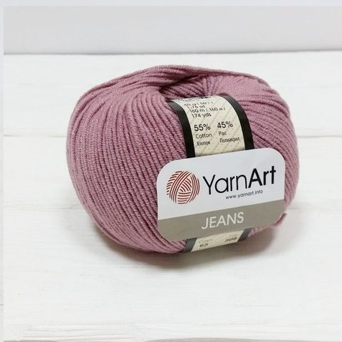 Пряжа YarnArt JEANS - (65-пыльная роза)