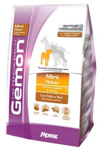 Gemon Dog Mini Сухой корм для взрослых собак мелких пород с курицей и рисом