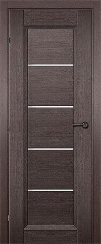 Дверь ДО 3352 (чёрный дуб, остекленная CPL), фабрика Краснодеревщик