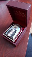 Икона финифть Пресвятая Богородица Скоропослушница