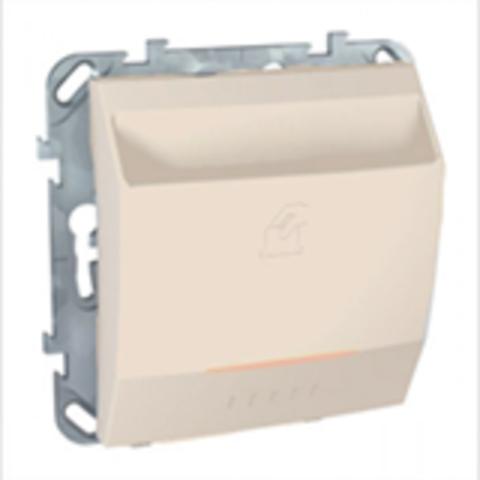 Карточный выключатель с подсветкой. Цвет Бежевый. Schneider electric Unica. MGU5.540.25ZD