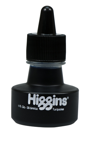 Чернила HIGGINS TURQUOISE Dye-Based 1 OZ, 29,6 мл
