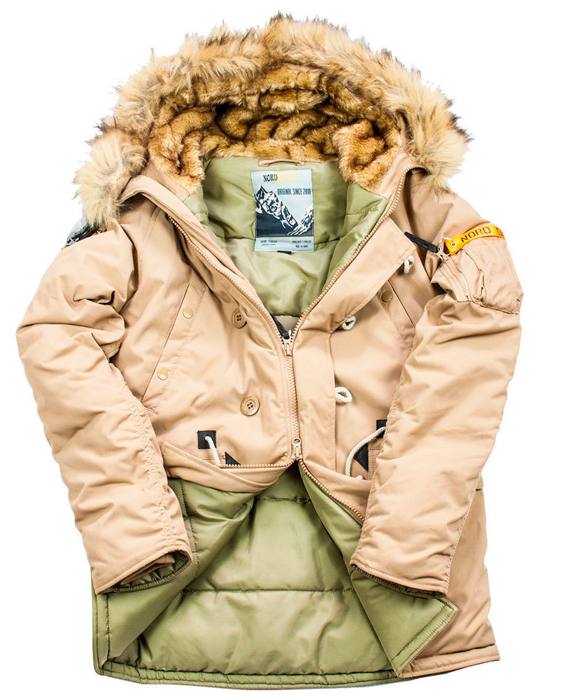 Куртка Аляска  Oxford Denali Storm (бежевая - tiger eye)