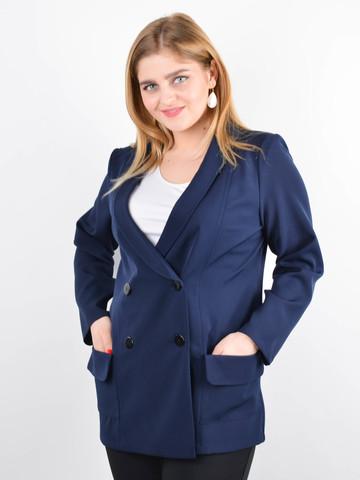 Дольче. Піджак для офісу plus size. Синій.