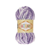 Пряжа Alize Softy сиреневый-белый 51627