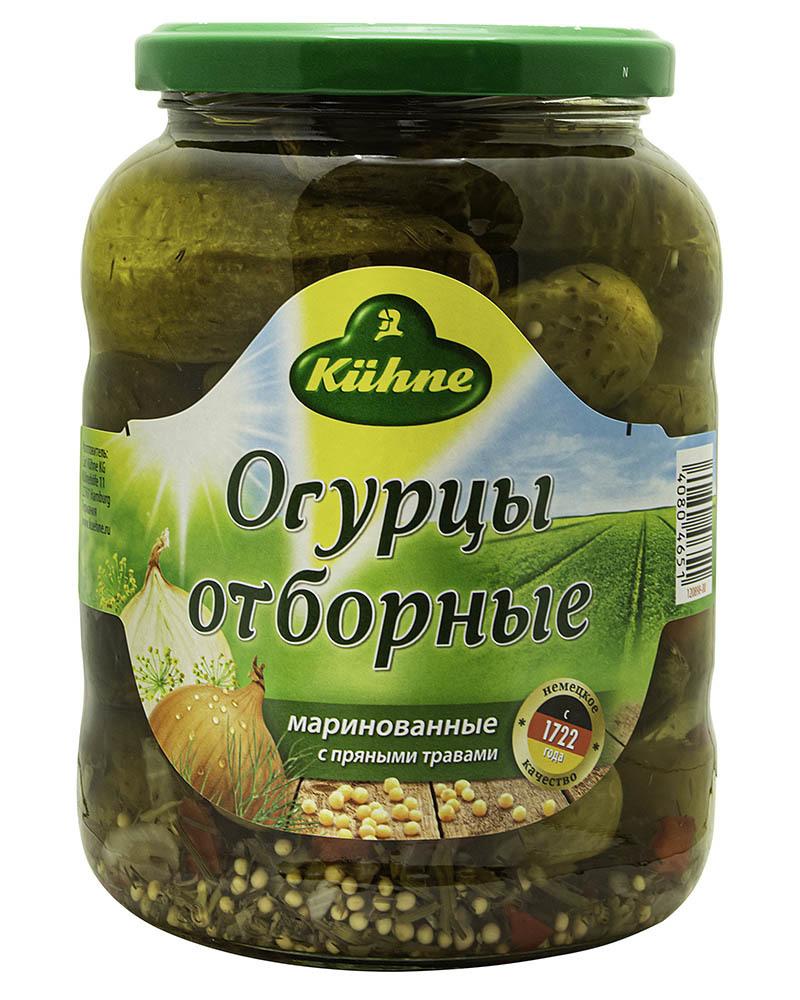 Огурцы Kuhne Отборные 670 гр