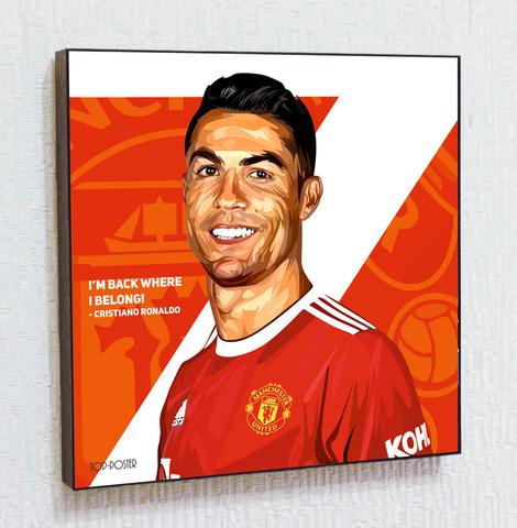Картина постер Криштиану Роналду 3 в стиле ПОП-АРТ