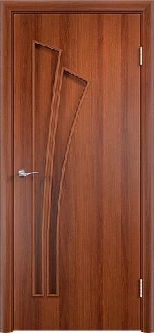 Дверь Фрегат ПГ-011 Пальма, цвет итальянский орех, глухая