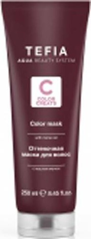 Оттеночная маска для волос с маслом монои Шоколадная, Tefia Color 250 мл.