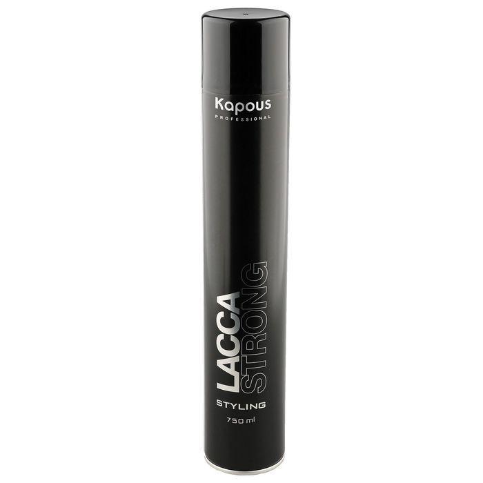 Kapous Professional Лак аэрозольный для волос сильной фиксации «Lacca Strong», 750 мл