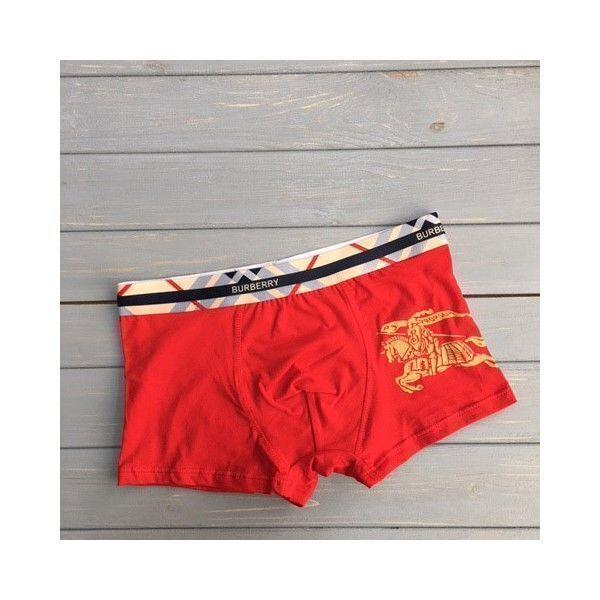 Мужские трусы боксеры красные Burberry Brit Red Boxer