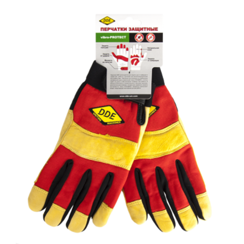 Перчатки DDE vibro-PROTECT  кожа /спандекс,  размер  X L (648-533)