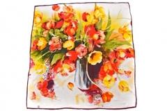 Итальянский платок из шелка тюльпаны 0951