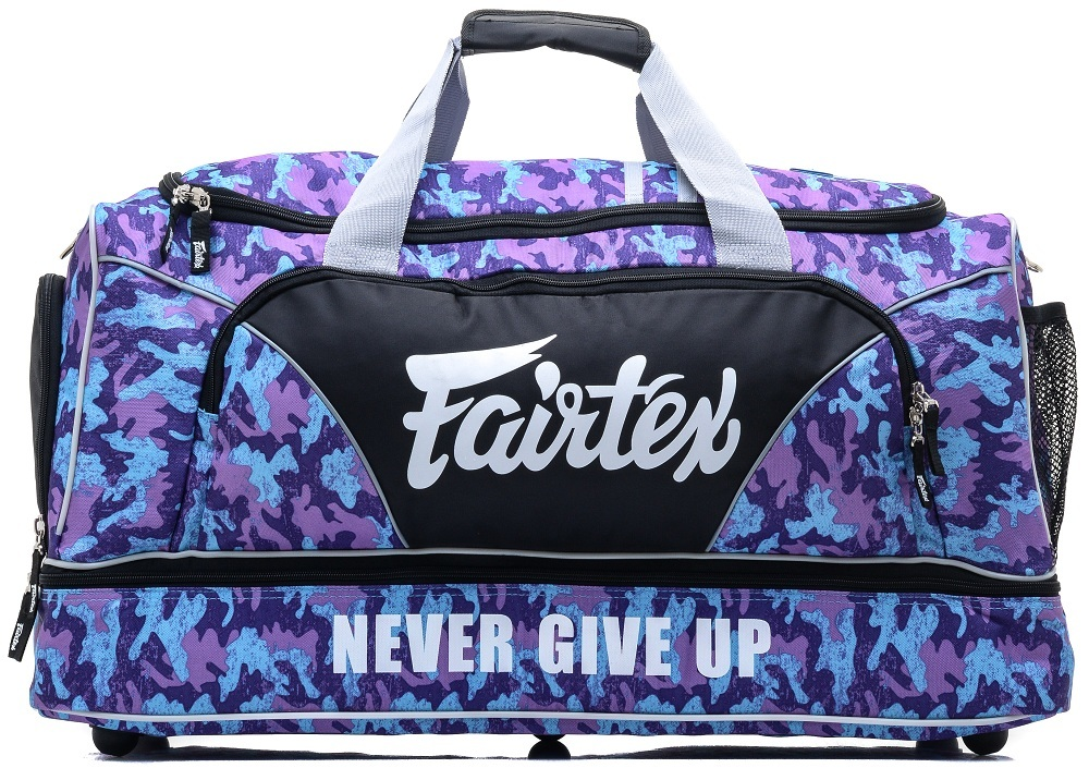 Спортивные сумки Сумка Fairtex Equipment Gym Bag BAG2 Purple Camo 1.jpg