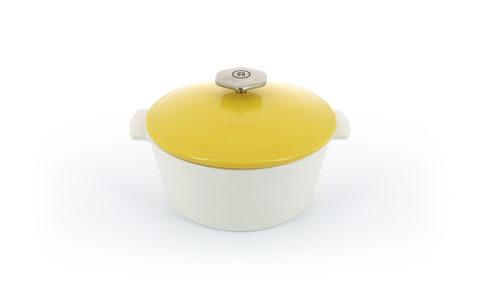 Фарфоровая кокотница Seychelles Yellow для газовой плиты, желтая, артикул 649635, серия Revolution 2