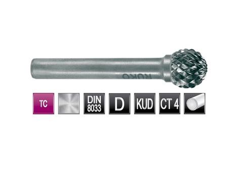 Бор-фреза твердосплавная D(KUD) 10,0х9x6x49мм HM Ruko 116043